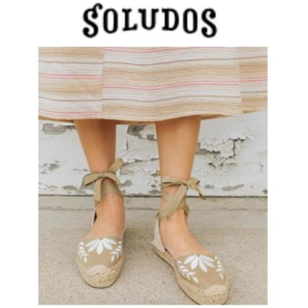 【SOLUDOS】大人気●日本未入荷●Embroidered Floral Sandal