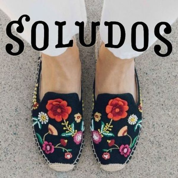 SOLUDOS☆Floral mule花刺繍のミュールスリッパ