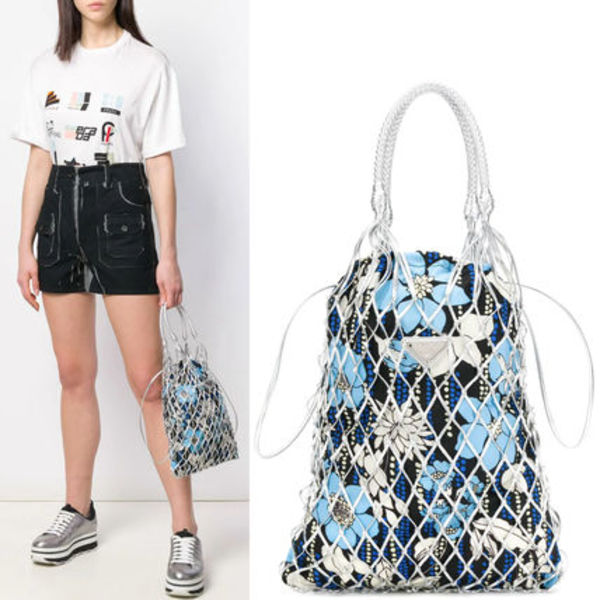 PR1846 PRINT FABRIC MESH BAG