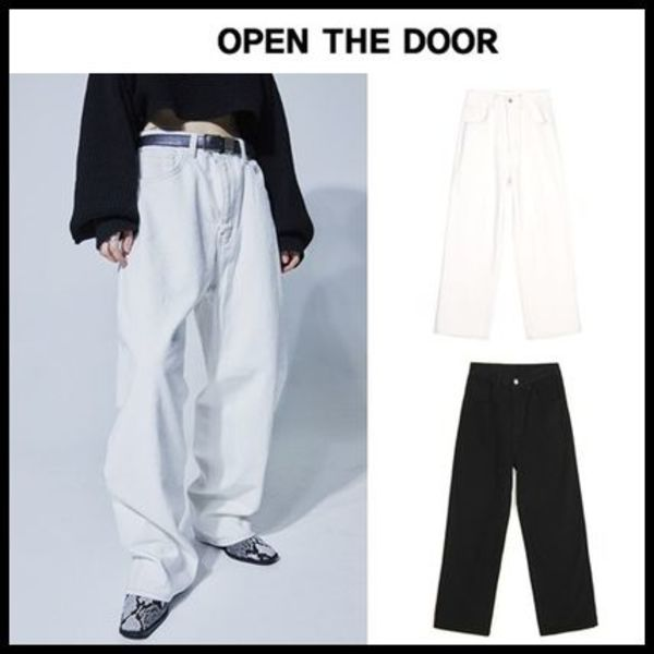 ☆OPEN THE DOOR☆ ワイドパンツ warm cotton wide pants