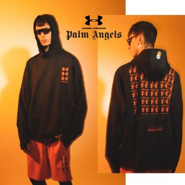 [PALM ANGELS] Under Armour Loose Hoodie パーカー(関税送料込)