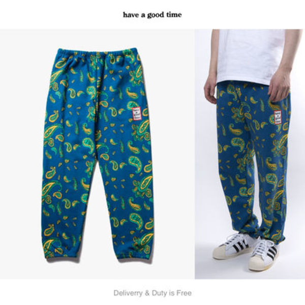 【have a good time】Paisley Mini Frame ロゴ スウェットパンツ