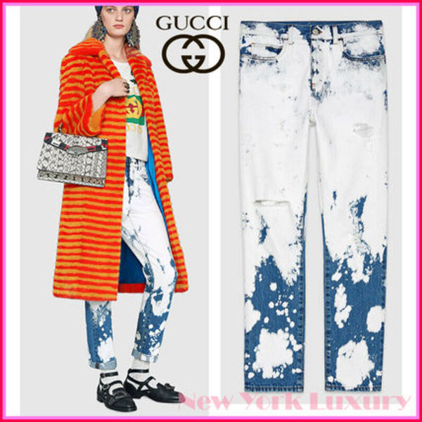 GUCCI★グッチ★!素敵!ChlorineWashed Denim Distressed Jeans