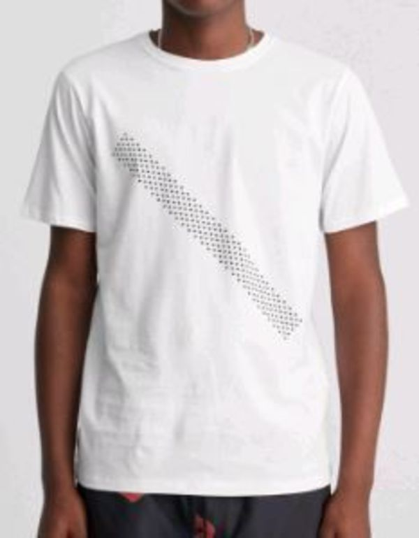 Saturdays Surf NYC Dotted Slash T Shirt White