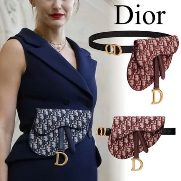 "DIOR*19SS*DIOR OBLIQUE ""SADDLE"" クラッチ ウエストバッグ"