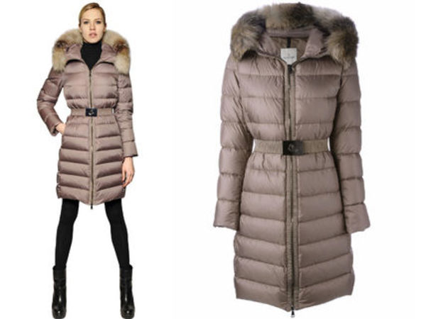 15AW MW113 Moncler 'Fabrefox' padded fur coat