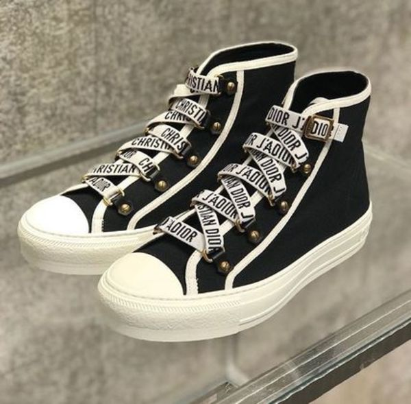 2018 DIOR 最新作★Walk'N' Dior High cut Sneaker in blk/white