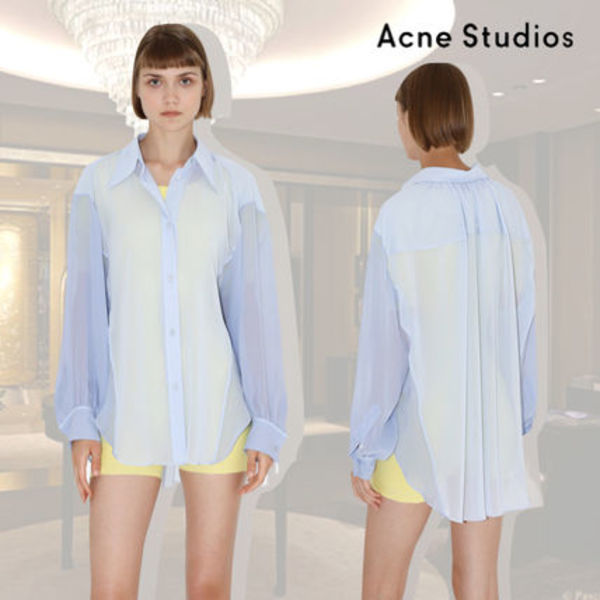 VIP価格【Acne Studios】SEMI-SHEER BUTTONED SHIRT 関税込