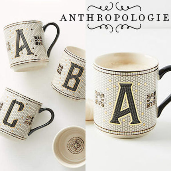 【国内発Anthropologie関税送料込】Tiled Margot Monogram Mug