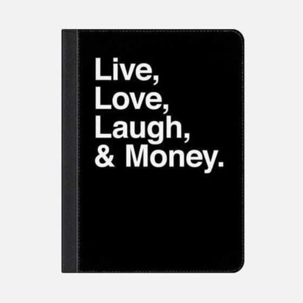 ★Casetify★iPadケース#LIVE LOVE LAUGH AND MONEY