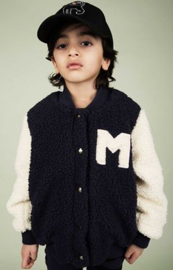 2015-16AW【mini rodini】Pile Baseball Jacket 9ヶ月~11歳