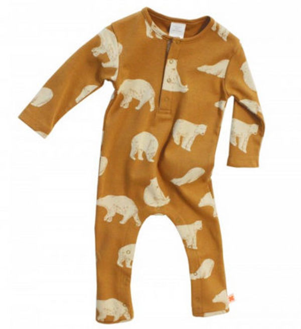 15-16AW【tinycottons】Bears Onepiece クマ 3-18ヶ月