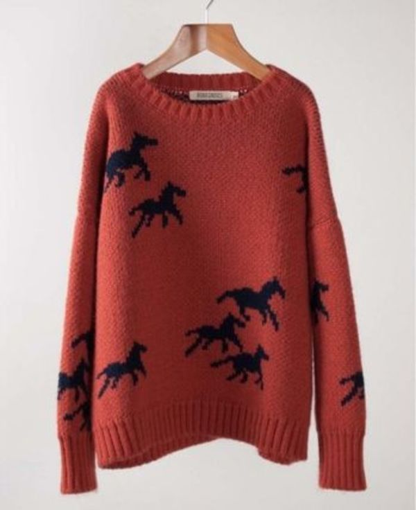 2015-16AW【BOBO CHOSES】Jumper Horses セーター ウマ柄 2~9歳