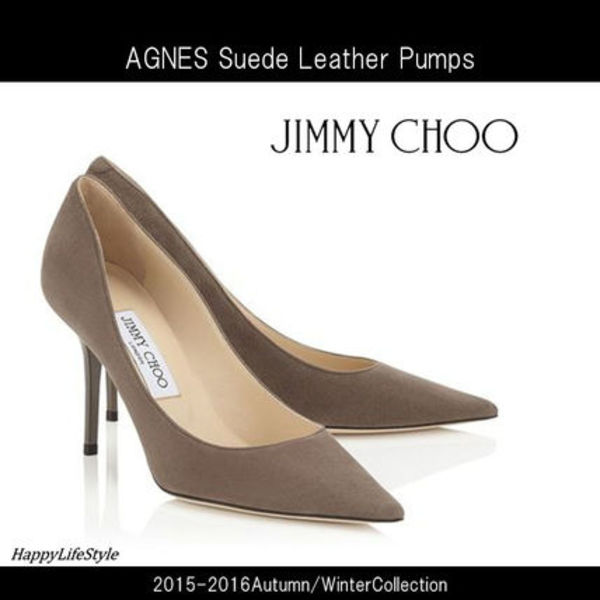 15-16AW★AGNES Suede Leather パンプス Mink★Jimmy Choo