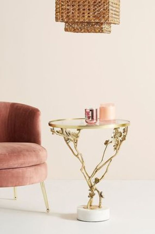 Anthropologie☆素敵なサイドテーブルCherry Blossom Side Table