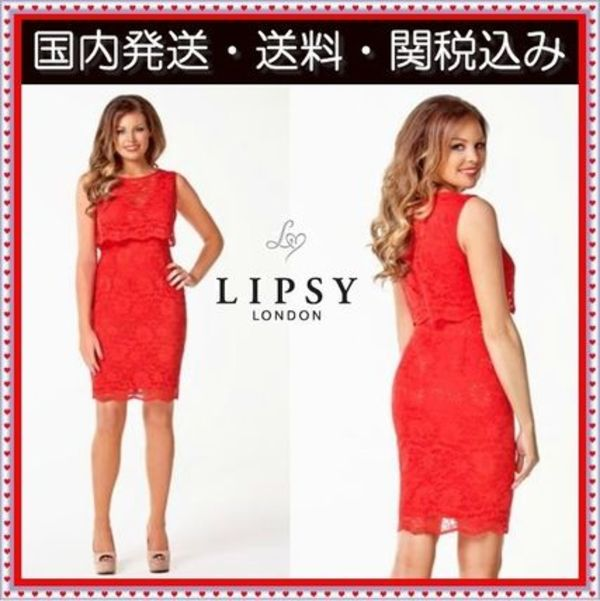 国内発 関税送込 Lipsy 人気 Jessica Wright  Lace Cape Dress