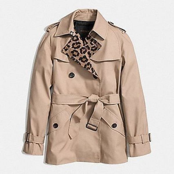 コーチ-OCELOT BLOCKED SHORT TRENCH ジャケット F86083