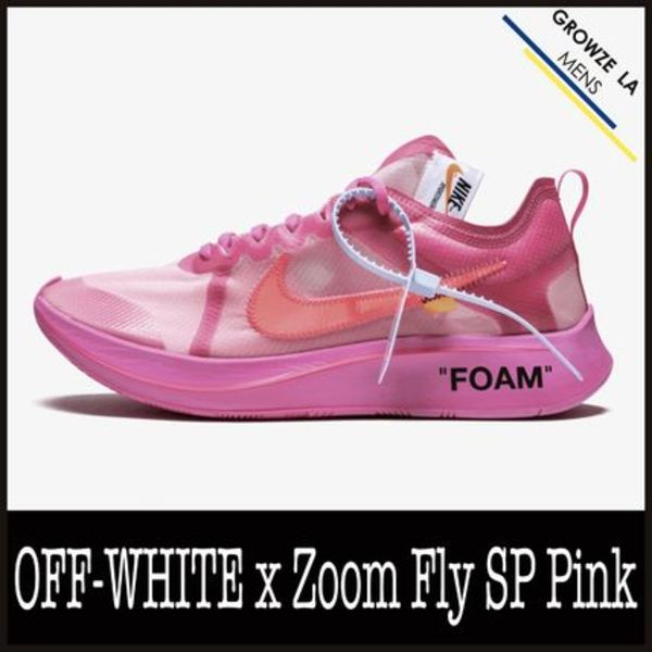 ★【NIKE】追跡発送 コラボ OFF-WHITE x Zoom Fly SP Pink