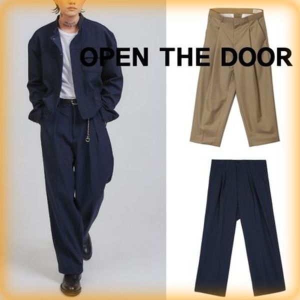 【OPEN THE DOOR】人気★Crows Zero Pintuck Wide Slacks ★2色