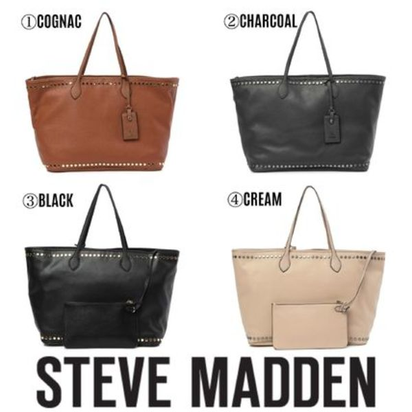 【Steve Madden】日本未入荷● Vivi Flat Studded Work Tote Bag