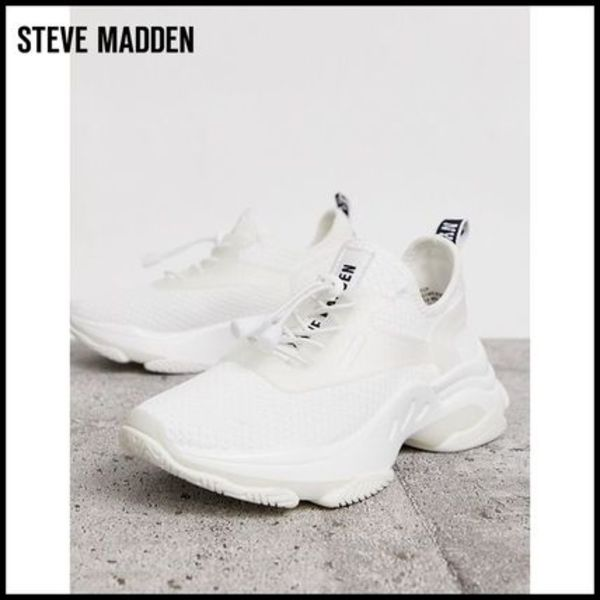 【Steve Madden】 Match white chunky trainers