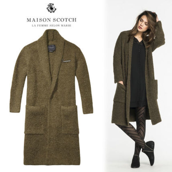 Ron Herman取扱☆MAISON SCOTCH Soft Boucleロングカーディガン