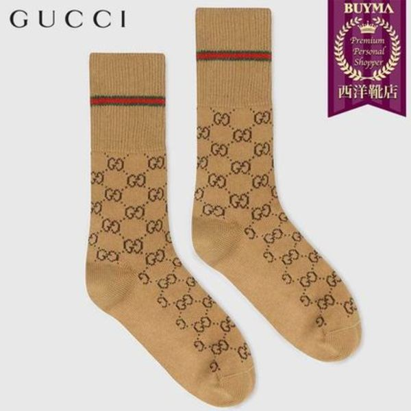 【正規品保証】GUCCI★19春夏★GG COTTON SOCKS WITH WEB