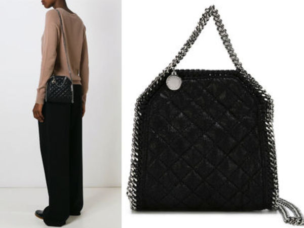 15AW SM073 STELLA McCARTNEY 'Falabella' quilted tiny tote