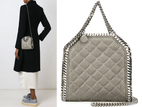 15AW SM074 STELLA McCARTNEY 'Falabella' quilted tiny tote
