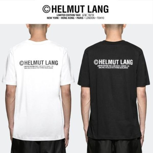 [ HELMUT LANG ] バックプリントTaxi ロゴ S/S Tシャツ