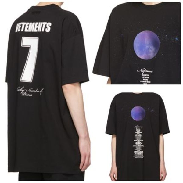 関税込み♡VETEMENTS Neptune Planet Number T シャツロゴ