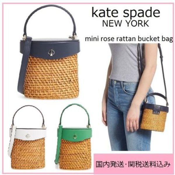【国内発送】mini rose rattan bucket bagセール