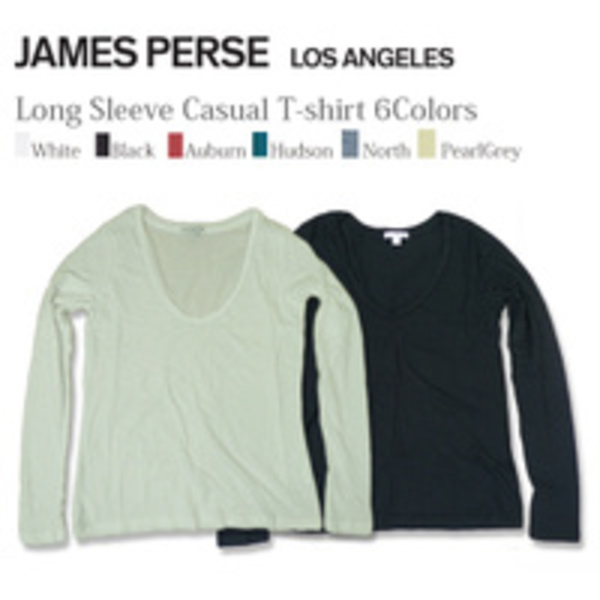 James Perse Relaxed Casual T-shirt WMJ3626 ロングスリーブ