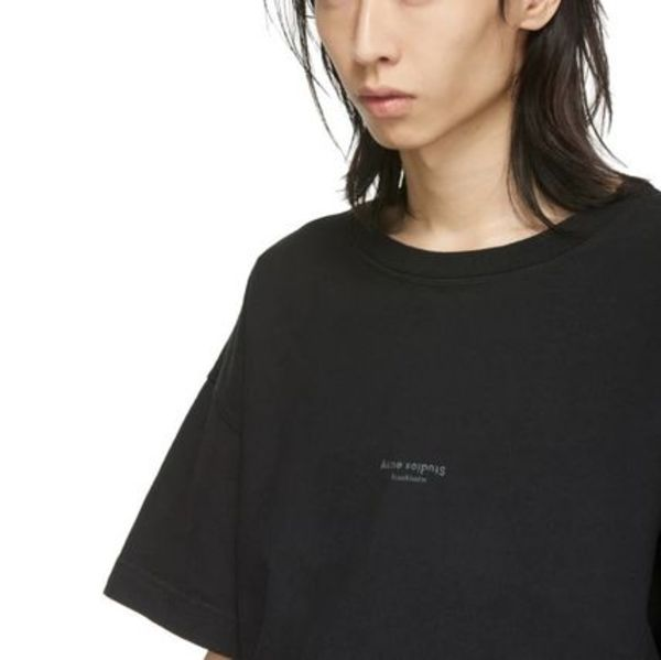 【Acne Studios】 Over Big Jaxon Logo T-Shirts ブラック