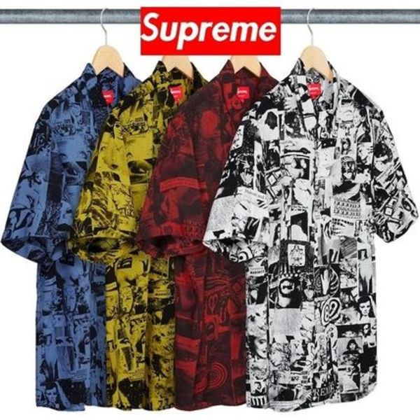 ★Supreme★ Vibrations Rayon Shirt 18 SS WEEK 19