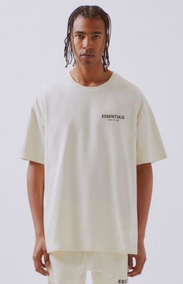19SS 送料無料!FOG Essentials クリーム ロゴ  TEE / SIZE:S