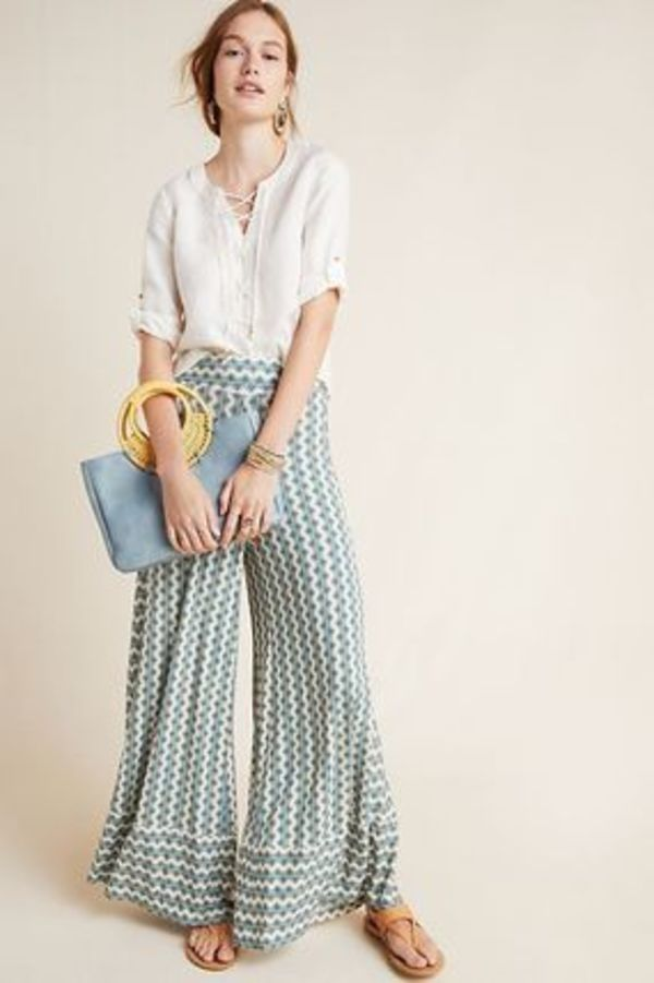 Farm Rio for Anthropologie Knit Wide-Leg Pants