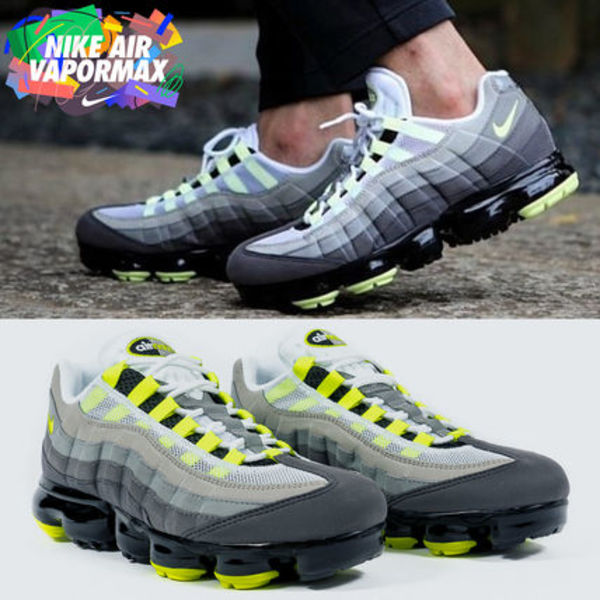 ◆日本未入荷◆NIKE◆AIR VAPORMAX 95◆NEON YELLOW GRADATION