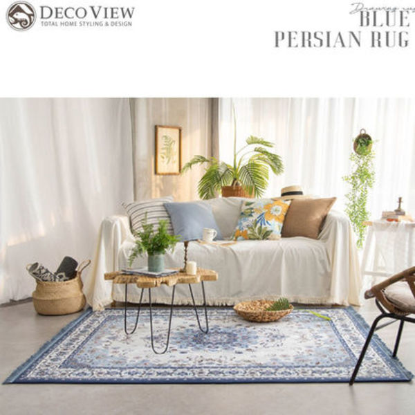 DECO VIEW(デコヴュー)★BLUE PERSIAN Rug - 195 X 155