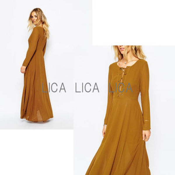 送料無料・国内発送ASOS/Glamorous Maxi Dress with Lace Up