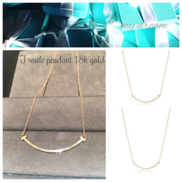 【Tiffany & Co】T Smile Pendant(gold or rose)