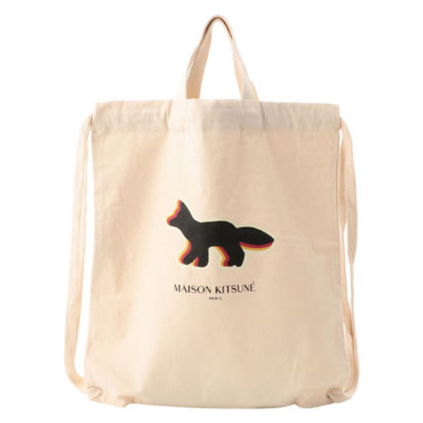 即配★MAISON KITSUNE TOTE BACKPACK QUADRI FOX 人気アイテム