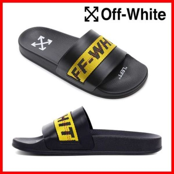 関税負担★人気【Off-White】★INDUSTRISL POOL SLIDES スリッパ
