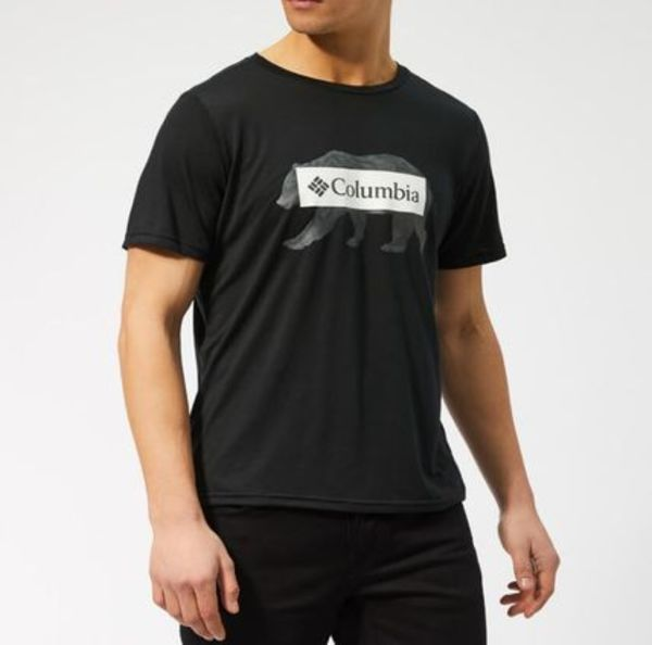 Columbia Tシャツ☆★Box Logo Bear Short Sleeve Black