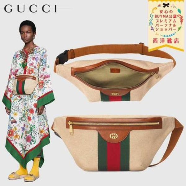 【正規品保証】GUCCI★19/20秋冬★VINTAGE CANVAS BELT BAG