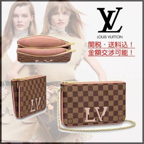 人気!2019AW【LouisVuitton】POCHETTE DOUBLE ZIP 関税送料込