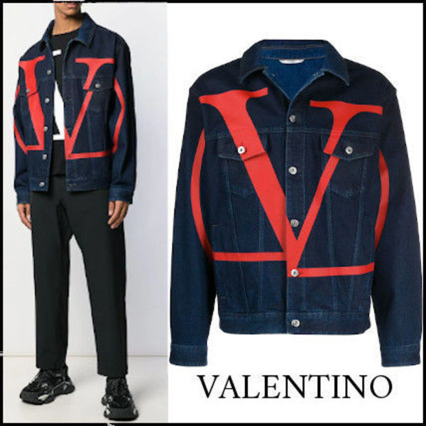 【関税送料込】NEW◆VIP価格 VLTN Go Logo Denim Jacket