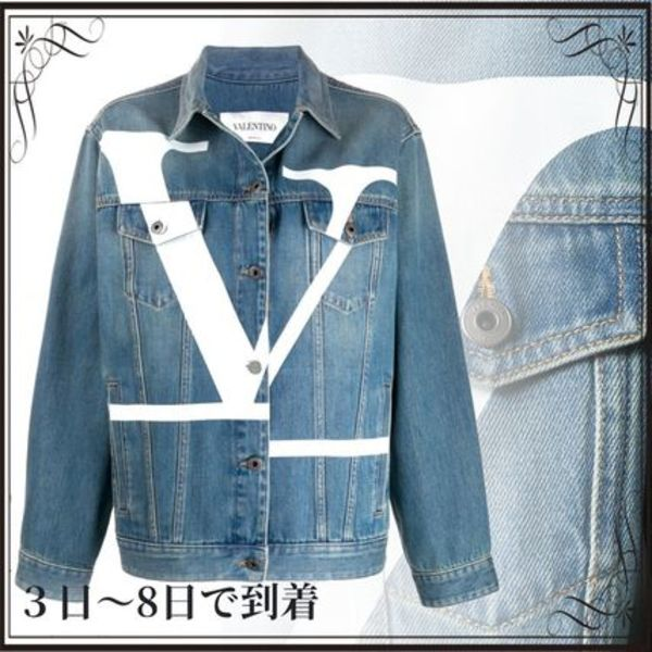 関税込◆V logo denim jacket