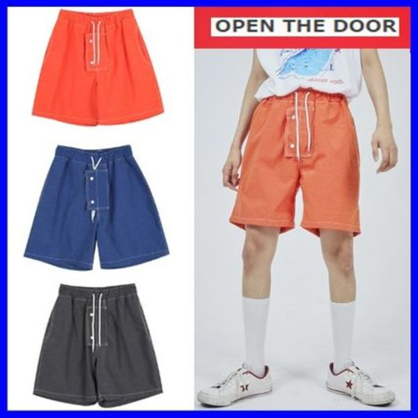 [OPEN THE DOOR]   stitch swim short pants (3 color) /追跡付