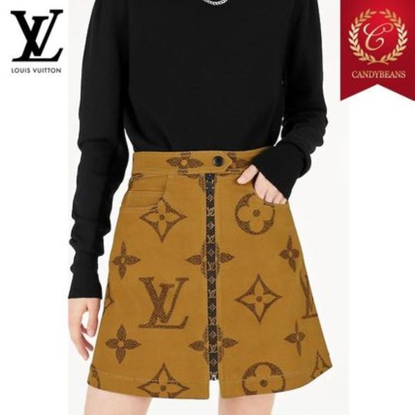 ◆Louis Vuitton ルイヴィトン モノグラムプリントスカート